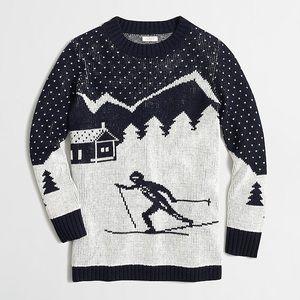 Jcrew wool blend skiing sweater